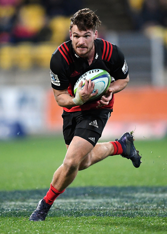 """Crusaders George Bridge against the Hurricanes  in Super Rugby match at Westpac Stadium, Wellington, New Zealand, Saturday, July 15, 2017. Credit:SNPA / Ross Setford  **NO ARCHIVING"""""""
