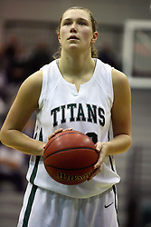 29 January 2011: Stacey Arlis during an NCAA Womens basketball game between the Carthage Reds and the Illinois Wesleyan Titans at Shirk Center in Bloomington Illinois.