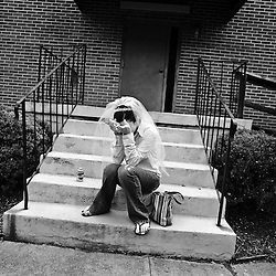 """Nobody one will return my calls!"", said newlywed to be, Jessica White as she buried her face in her hands on the steps of Ghent Grace Brethren Church in Roanoke, Virginia. Jessica was dealing with a problem with her flowers and cake arrangements, waiting for someone to show up to open the church, and wedding attendees who needed directions."
