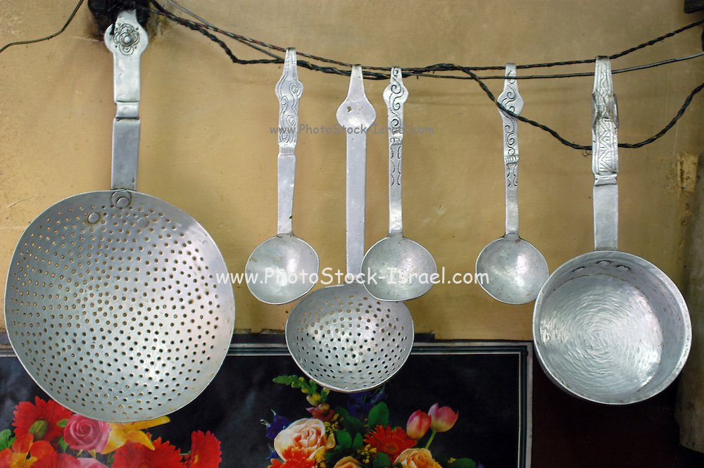 Restaurant Kitchen Utensils kitchen utensils manali, kullu, india | photostock-israel licensed