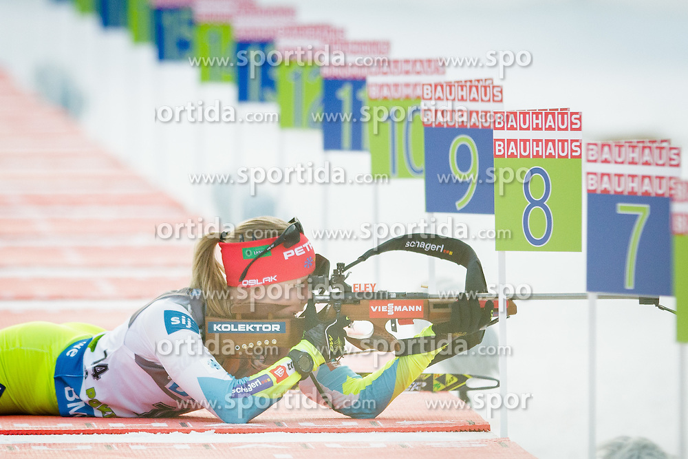 Anja Erzen (SLO) during Women 7,5 km Sprint at day 2 of IBU Biathlon World Cup 2015/16 Pokljuka, on December 18, 2015 in Rudno polje, Pokljuka, Slovenia. Photo by Ziga Zupan / Sportida