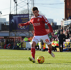 Swindon's Harry Toffolo in action during the Sky Bet League One match between Swindon Town and Crawley Town at The County Ground on 21 February 2015 in Swindon, England - Photo mandatory by-line: Paul Knight/JMP - Mobile: 07966 386802 - 21/02/2015 - SPORT - Football - Swindon - The County Ground - Swindon Town v Crawley Town - Sky Bet League One