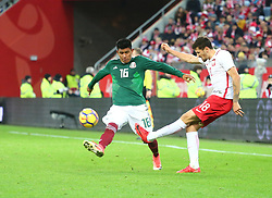 November 13, 2017 - Gdansk, Poland - Jesus Gallardo Pawel Wszolek during the international friendly soccer match between Poland and Mexico at the Energa Stadium in Gdansk, Poland on 13 November 2017  (Credit Image: © Mateusz Wlodarczyk/NurPhoto via ZUMA Press)