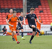 14th April 2018, Tannadice Park, Dundee, Scotland; Scottish Championship football, Dundee United versus Falkirk; Paul Watson of Falkirk and Matthew Smith of Dundee United