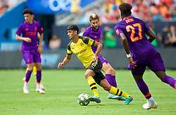 CHARLOTTE, USA - Sunday, July 22, 2018: Borussia Dortmund's Mahmoud Dahoud during a preseason International Champions Cup match between Borussia Dortmund and Liverpool FC at the  Bank of America Stadium. (Pic by David Rawcliffe/Propaganda)