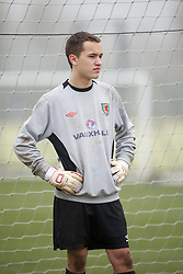CARDIFF, WALES - Thursday, March 15, 2012: Wales U16's Ryan Vos (FC Dordrecht) during a training session at the Glamorgan Sports Park. (Pic by David Rawcliffe/Propaganda)