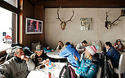 Italy, Madonna di Campiglio, breakfast at Chalet FIAT