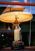 Hula girl lamp, Hawaii