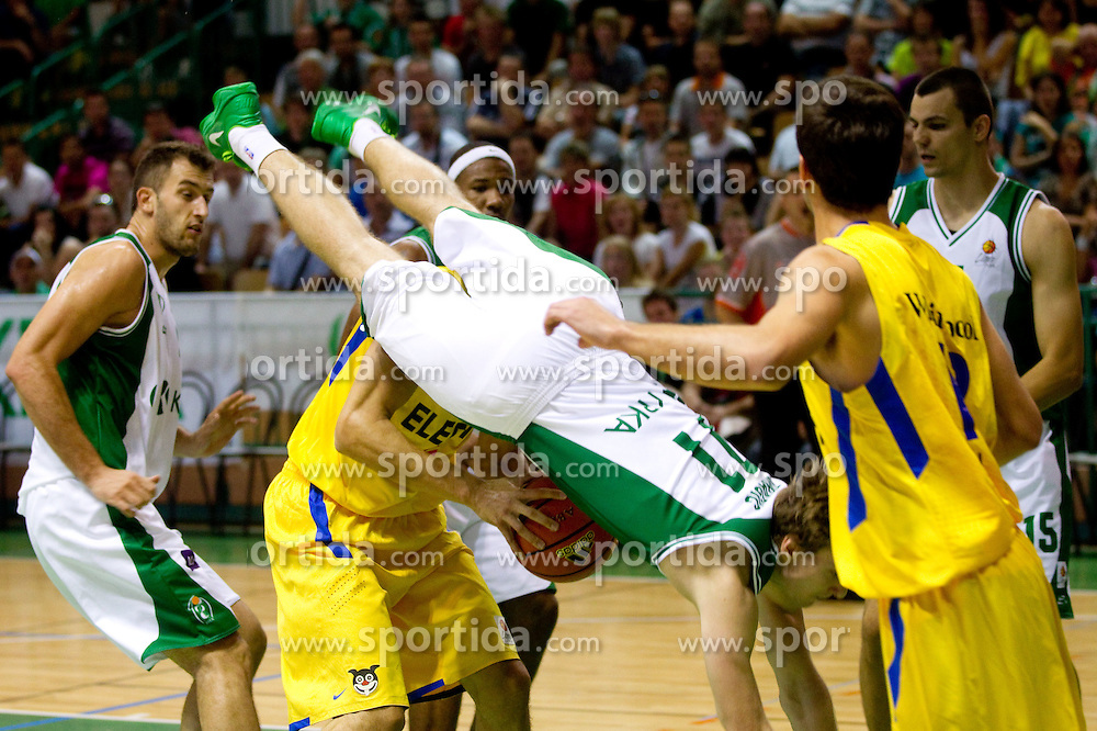 Zoran Dragic of Krka during basketball match between KK Krka and Maccabi Electra Tel-Aviv in 1st Round of ABA League, on October 1, 2011, in Arena Leon Stukelj, Slovenia.  (Photo by Vid Ponikvar / Sportida)