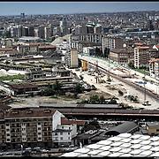 Nella foto:  via Cigna  Spina 4.. Reportage fotografico aereo di bassa quota per l'importante progetto di trasformazione urbana Variante n. 200 al P.R.G. inerente la Linea 2 Metropolitana e Quadrante Nord-Est di Torino: Barriera di Milano, Rebaudengo, Falchera, Regio Parco, Barca e Bertolla.