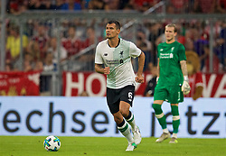 MUNICH, GERMANY - Tuesday, August 1, 2017: Liverpool's Dejan Lovren during the Audi Cup 2017 match between FC Bayern Munich and Liverpool FC at the Allianz Arena. (Pic by David Rawcliffe/Propaganda)