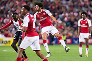 July 15 2017: Arsenal player Mohamed Elneny (35) scores at the International soccer match between English Premier League giants Arsenal and A-League team Western Sydney Wanderers at ANZ Stadium in Sydney.