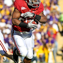 November 6, 2010; Baton Rouge, LA, USA;  Alabama Crimson Tide running back Mark Ingram (22) runs with the ball during the first half against the Alabama Crimson Tide at Tiger Stadium.  Mandatory Credit: Derick E. Hingle