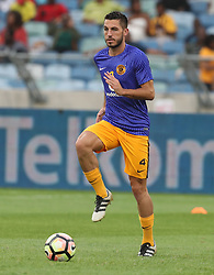 Daniel Cardoso of Kaizer Chiefs during the 2016 Premier Soccer League match between Kaizer Chiefs and Ajax Cape Town held at the Moses Mabhida Stadium in Durban, South Africa on the 24th September 2016<br /> <br /> Photo by:   Steve Haag / Real Time Images