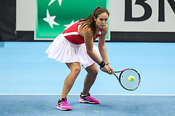 February 6, 2019 - Zielona Gora, Poland - Daria Kasatkina (RUS) during Tennis 2019 Fed Cup by Paribas Europe/Africa Zone Group 1  match between Poland and Russia  in Zielona Gora, Poland, on 7 February 2019. (Credit Image: © Foto Olimpik/NurPhoto via ZUMA Press)