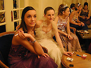 Alexia de Courcel. ( 2nd from right.) Crillon Haute Couture Ball. Crillon Hotel, Paris. 2 December 2000. © Copyright Photograph by Dafydd Jones 66 Stockwell Park Rd. London SW9 0DA Tel 020 7733 0108 www.dafjones.com
