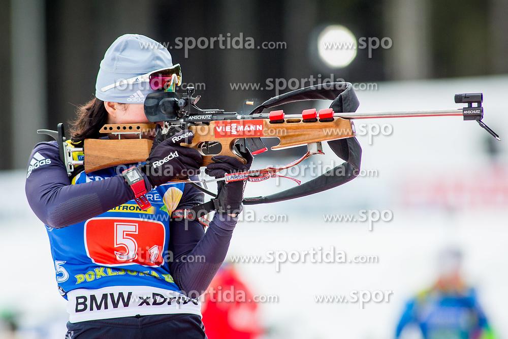 Anastassiya Kondratyeva (KAZ) during Single Mixed Relay at day 1 of IBU Biathlon World Cup 2018/19 Pokljuka, on December 2, 2018 in Rudno polje, Pokljuka, Pokljuka, Slovenia. Photo by Ziga Zupan / Sportida