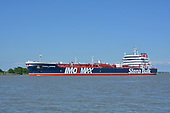 Images of Tanker MT 'Stena Impero' Sailing Upstream in the Houston Ship Channel