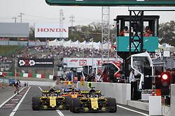 October 6, 2018 - Suzuka, Japan - Motorsports: FIA Formula One World Championship 2018, Grand Prix of Japan, .World Championship 2018 Grand Prix Japan#55 Carlos Sainz (ESP, Renault ), #27 Nico Hülkenberg (Renault Sport F1 Team) (Credit Image: © Hoch Zwei via ZUMA Wire)