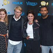 NLD/Amsterdam/20150518 - IMAX-première van X-Men: Apocalypse, Leo Alkemade en partner Margriet Baalman, Edwin Jonker en Tina de Bruin