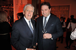 Left to right, LORD POWELL and JO THORNTON Managing Director Veuve Clicquot UK at the 38th Veuve Clicquot Business Woman Award held at Claridge's, Brook Street, London W1 on 28th March 2011.