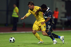 Janez Aljancic  (3) of Domzale vs Cruz Campos Jorge Sammir of Dinamo at 1st football game of 2nd Qualifying Round for UEFA Champions league between NK Domzale vs HNK Dinamo Zagreb, on July 30, 2008, in Domzale, Slovenia. Dinamo won 3:0. (Photo by Vid Ponikvar / Sportal Images)