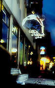 Skateboarder, Laurie Sherman, in the air on his skateboard, UK 1990's
