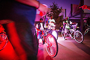 Grown Men on Bikes - GMOB - ride their custom tricked out bicycles at a outing at the Tricentennial Park in downtown Detroit.