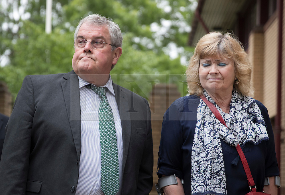 © Licensed to London News Pictures. 03/06/2016. Woking, UK.  Doreen and Des James, the parents of Cheryl James, arrive at Woking Coroner's Court. A second inquest into the death of  army recruit Private Cheryl James is expected to give it's verdict today. Cheryl James was found dead with a bullet wound to her head in November 1995.  Aged just 18 she was one of four young soldiers who died at the Deepcut Barracks in Surrey between 1995 and 2002, amid claims of bullying and abuse. Photo credit: Peter Macdiarmid/LNP