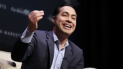 March 30, 2019 - Storm Lake, IOWA, USA - Democratic candidate  former secretary of HUD JULIAN CASTRO speaks during the Heartland Forum which is focused on the family farmer and rural Iowa issues at the Schaller Memorial Chapel on the campus of Buena Vista University in Storm Lake, Iowa Saturday, March 30, 2019. (Credit Image: © Jerry Mennenga/ZUMA Wire)