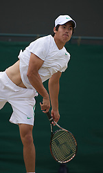 LONDON, ENGLAND - Friday, July 1, 2011: Jason Kubler (AUS) in action during the Boys' Singles Semi-Final match on day eleven of the Wimbledon Lawn Tennis Championships at the All England Lawn Tennis and Croquet Club. (Pic by David Rawcliffe/Propaganda)