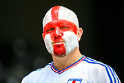 An England fan ahead of the UEFA Nations League 3rd place play-off match between Switzerland and England at Estadio D. Afonso Henriques, Guimaraes, Portugal on 9 June 2019.