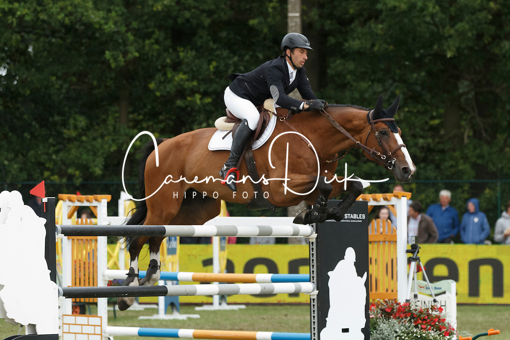 Dunon Gilles, (BEL), Fou de Toi van de Keikhoeve <br /> Grand Prix Meritt Capital<br /> Jumping Kapellen 2015<br /> &copy; Hippo Foto - Dirk Caremans<br /> 12/07/15