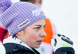 "Maze Tina (SLO) looks dejected in finish area after the FIS Alpine Ski World Cup 2014/15 5th Ladies' Slalom race named ""Snow Queen Trophy 2015"", on January 4, 2015 in Course Crveni Spust at Sljeme hill, Zagreb, Croatia.  Photo by Vid Ponikvar / Sportida"
