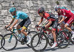06.07.2017, Kitzbühel, AUT, Ö-Tour, Österreich Radrundfahrt 2017, 4. Etappe von Salzburg auf das Kitzbüheler Horn (82,7 km/BAK), im Bild v.l. Laurens De Vreese (BEL, Astana Pro Team), Hermann Pernsteiner (AUT, Team Amplatz - BMC) // f.l. Laurens De Vreese of Belgium (Astana Pro Team) Hermann Pernsteiner of Austria (Amplatz BMC) during the 4th stage from Salzburg to the Kitzbueheler Horn (82,7 km/BAK) of 2017 Tour of Austria. Kitzbühel, Austria on 2017/07/06. EXPA Pictures © 2017, PhotoCredit: EXPA/ Reinhard Eisenbauer