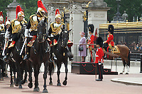 Queen Elizabeth; Prince Philip Queen's Birthday Parade, Trooping The Colour, UK, 12 June 2010:  For piQtured Sales contact: Ian@Piqtured.com +44(0)791 626 2580 (Picture by Richard Goldschmidt/Piqtured)