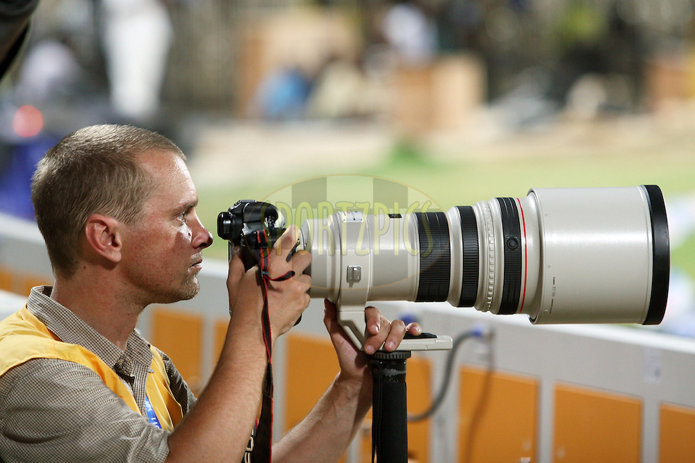 Jacques Rossouw, IPL's Official photographer from South Africa during match 14 of the Indian Premier League ( IPL ) Season 4 between the Chennai Superkings and The Royal Challengers Bangalore held at the MA Chidambaram Stadium in Chennai, Tamil Nadu, India on the 16th April 2011..Photo by Vino John/BCCI/SPORTZPICS