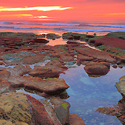 La Jolla Tide Pools - Sunset - New Years Day 2010