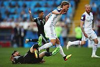 Football - 2018 FIFA World Cup - Group D: Argentina vs. Iceland<br /> <br /> Lionel Messi of Argentina vies with Birkir Bjarnason of Iceland, at Spartak Stadium (Otkritie Arena), Moscow.<br /> <br /> COLORSPORT/IAN MACNICOL