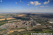 aerial photograph of the Chorus / TATA Steelworks in Rotherham, South Yorkshire  England UK