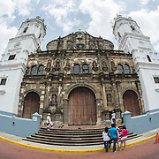 Catedral Metropolitana on the western side of Plaza de la Catedral. Plaza de la Catedral is the central square of the historic Casco Viejo district of Panama City, Panama. It's also known as the Plaza de la Independencia or Plaza Mayor.