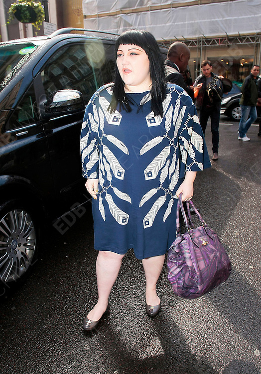 12.APRIL.2012. LONDON<br /> <br /> BETH DITTO ARRIVING AT RADIO ONE<br /> <br /> BYLINE: EDBIMAGEARCHIVE.COM<br /> <br /> *THIS IMAGE IS STRICTLY FOR UK NEWSPAPERS AND MAGAZINES ONLY*<br /> *FOR WORLD WIDE SALES AND WEB USE PLEASE CONTACT EDBIMAGEARCHIVE - 0208 954 5968*
