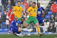 Birmingham - Saturday March 21st, 2009: Kevin Phillips of Birmingham City and Sammy Clingan of Norwich City during the Coca Cola Championship match at St Andrews, Birmingham. (Pic by Alex Broadway/Focus Images)