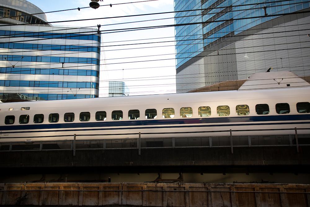 TOKYO, JAPAN - DECEMBER 6 : Bullet train is seen at Tokyo Station on December 6, 2015, Tokyo, Japan.<br />   <br /> Photo: Richard Atrero de Guzman