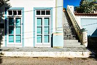 Casa colonial de século 19 no centro histórico de São José, onde funciona a Biblioteca Municipal. São José, Santa Catarina, Brasil. / Colonial architecture house from 19th century in the historic center of Sao Jose. Sao Jose, Santa Catarina, Brazil.