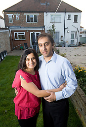 © Ben Cawthra. 29/03/2012. Wembley, UK. Minaxi and Raj Mistry pictured at their home in Wembley, North London.