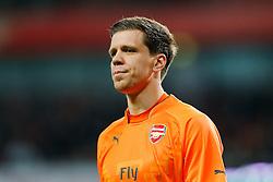Wojciech Szczesny of Arsenal looks on - Photo mandatory by-line: Rogan Thomson/JMP - 07966 386802 - 15/02/2015 - SPORT - FOOTBALL - London, England - Emirates Stadium - Arsenal v Middlesbrough - FA Cup Fifth Round Proper.