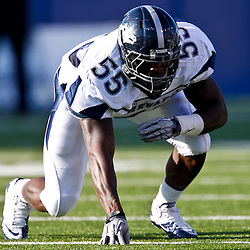 December 4, 2010; Ruston, LA, USA;  Nevada Wolf Pack defensive end Dontay Moch (55) during the first half against the Louisiana Tech Bulldogs at Joe Aillet Stadium.  Mandatory Credit: Derick E. Hingle
