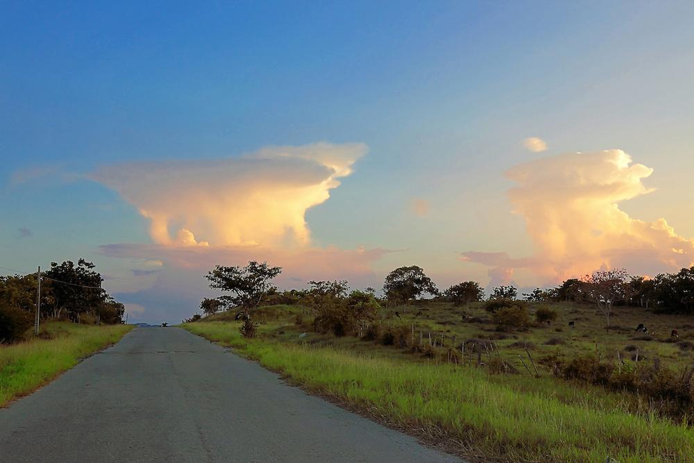 Evening thunder clouds in the Campo Florido area of Ciudad de La Habana, Cuba.