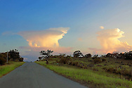 Evening thunder clouds in the Campo Florido area of Ciudad de La Habana, Cuba.